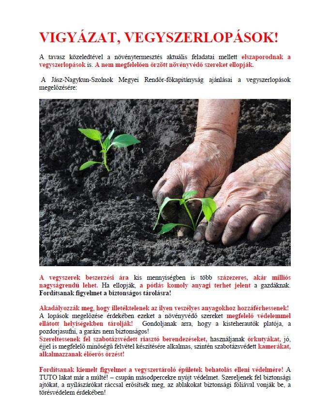 növényvédőszeres lopások